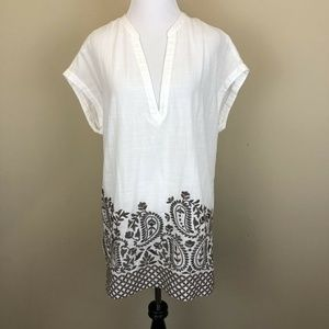 Athleta Embroidered Tunic Top Coverup